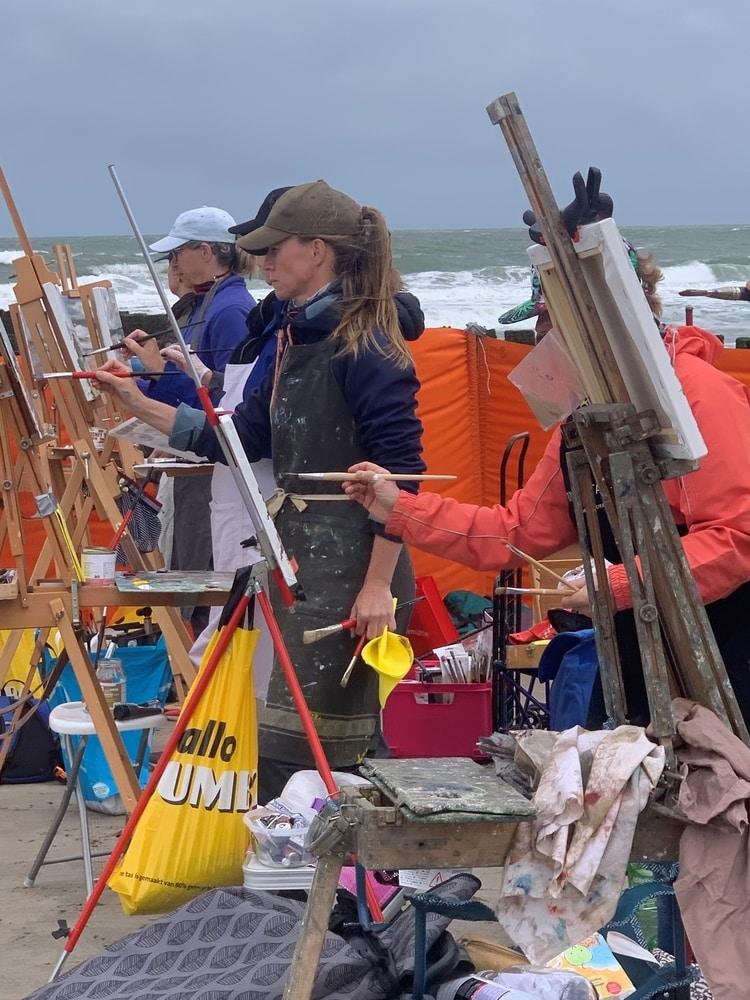 schilderen op het strand
